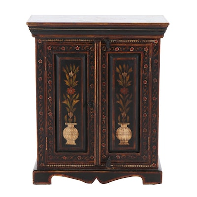 Painted Side Cabinet, Late 20th Century