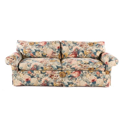 Snyder Floral Patterned Sofa, Late 20th Century