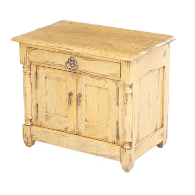 Small Bausman & Company Bench Made French Country Style Cupboard