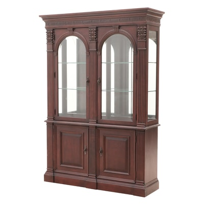 "Bernhardt ""Belmont"" Collection Mahogany Illuminated Curio Cabinet, Contemporary"