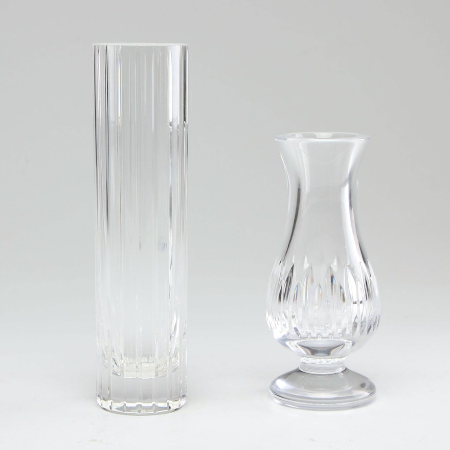 Baccarat and Waterford Crystal Bud Vases