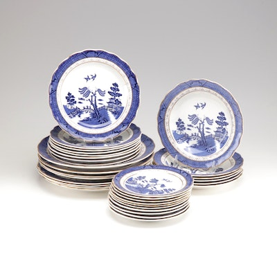 "Booths ""Real Old Willow"" Porcelain Tableware"