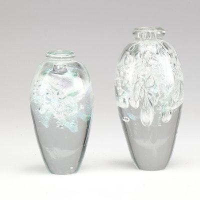Robert Eickholt Seeded Glass Objet d'Art