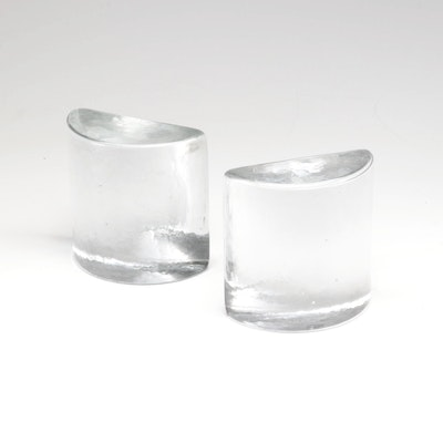 Blenko Solid Glass Bookends, Early to Mid 20th Century