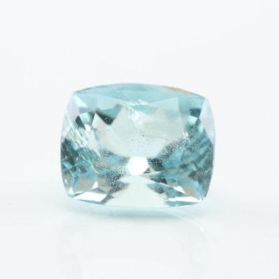 Loose 3.35 CT Aquamarine Gemstone