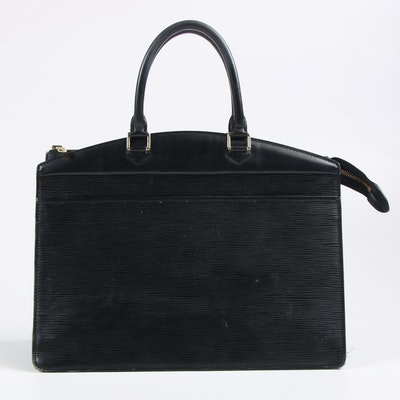 Louis Vuitton Paris Riviera in Black Epi Leather Handbag