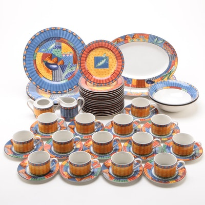 "Johnson Brothers ""Caribbean"" Stoneware Dinnerware and Serveware, 1997 - 1998"