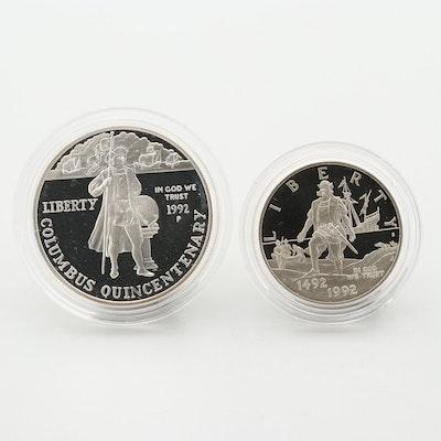 1992 Columbus Quincentenary Commemorative Two-Coin Proof Set