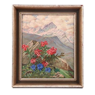 Alpine Landscape Oil Painting