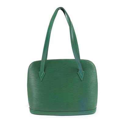 Louis Vuitton Paris Borneo Green Lussac Tote
