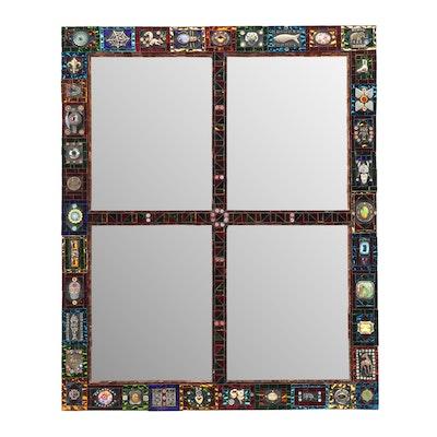 Lynn Dubnicka Sirius Mosaics Four Pane Mirror Art