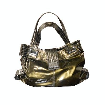 Kooba Metallic Patent Leather Shoulder Bag