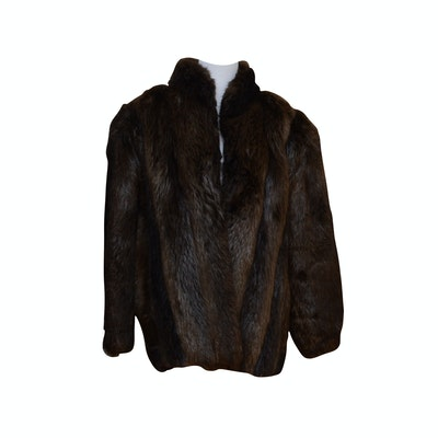 Beaver Fur Coat from Bruno & Joseph Furs of Chicago, Vintage