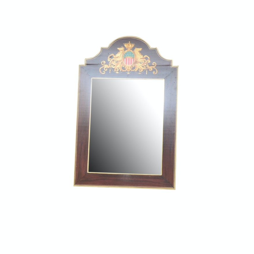 Hand Painted Federal Style Wall Mirror