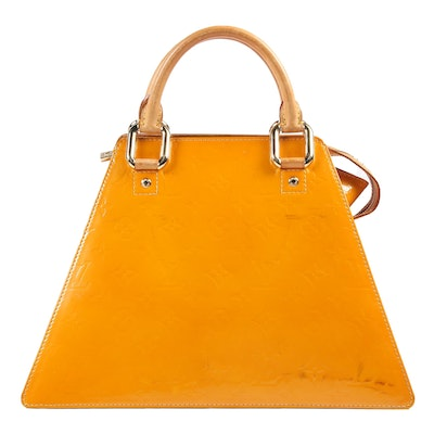 Louis Vuitton Paris Forsyth GM Handbag in Mango Vernis Leather