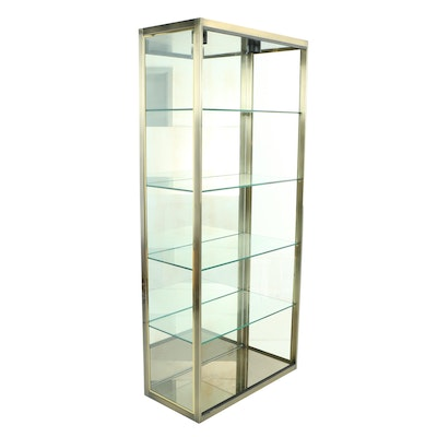 Design Institute America Inc., Brass and Mirrored Glass Display Cabinet