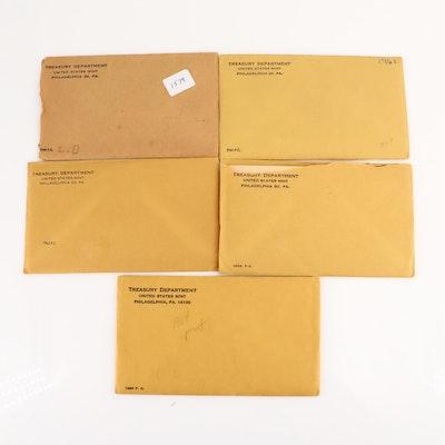 Five U.S. Mint Proof Sets: 1960-1964