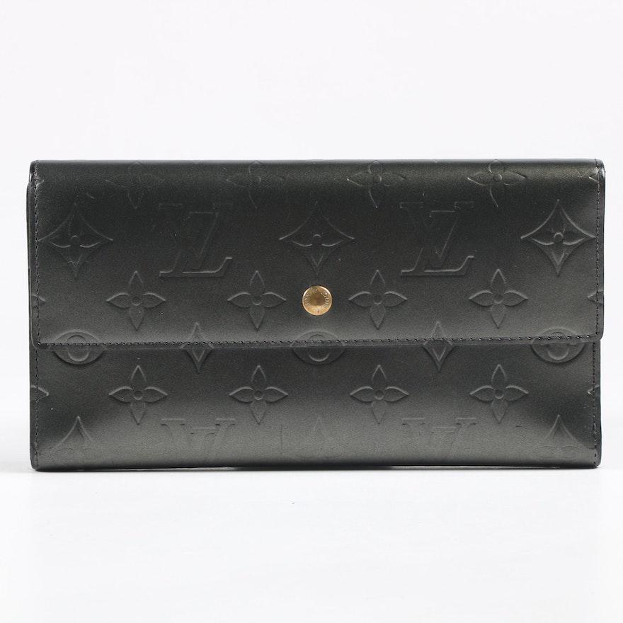 Louis Vuitton Paris Porte-Tresor Wallet in Gris Art Deco