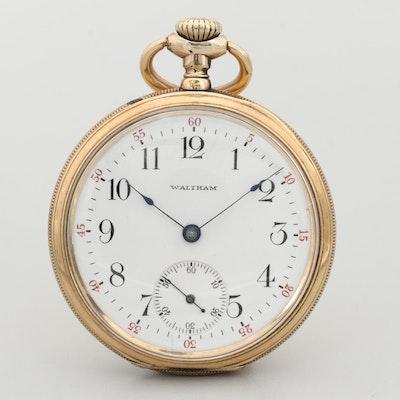 Waltham 14K Gold Filled Open Face Pocket Watch, 1905