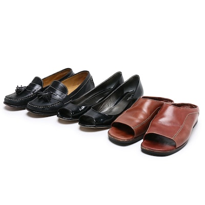 Cole Haan Leather Slides, Wedges, and Loafers