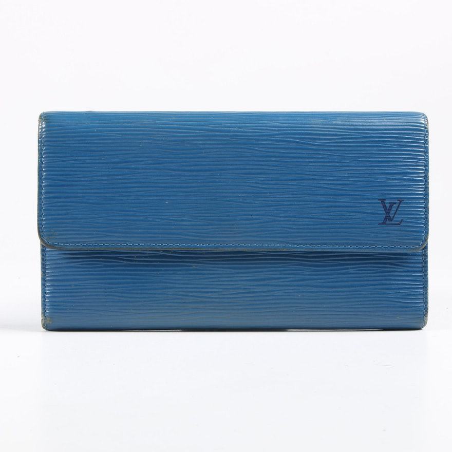 Louis Vuitton Porte-Tresor Wallet in Toledo Blue Epi Leather
