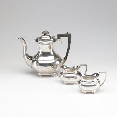 William Adams Three Piece Silver Plate Tea Service