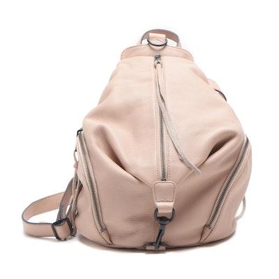 Rebecca Minkoff Blush Pink Pebbled Leather Backpack Purse