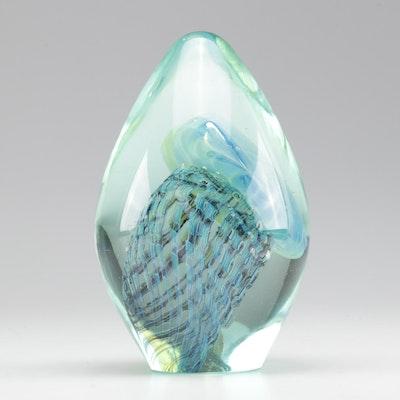 Robert Eickholt Art Glass Jellyfish Paperweight