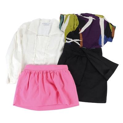 Diane von Furstenberg Skirt and Dress with Anne Fontaine Paris Blouse