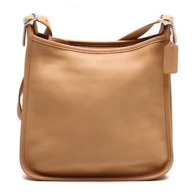 Coach Andrea Slim Tan Leather Hobo Shoulder Bag