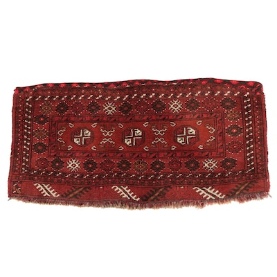 Hand-Knotted Afghan Turkmen Bokhara Wool Bag Face