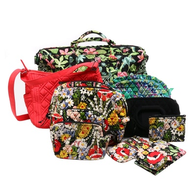 Vera Bradley Signature Quilted Tote, Cosmetics, Coin Purses and Evening Bags