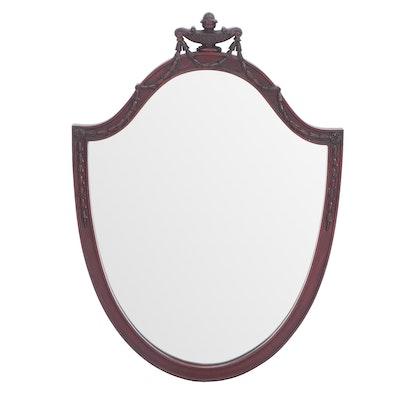 Federal Style Michigan Chair Company Mahogany Finish Wall Mirror, Circa 1905