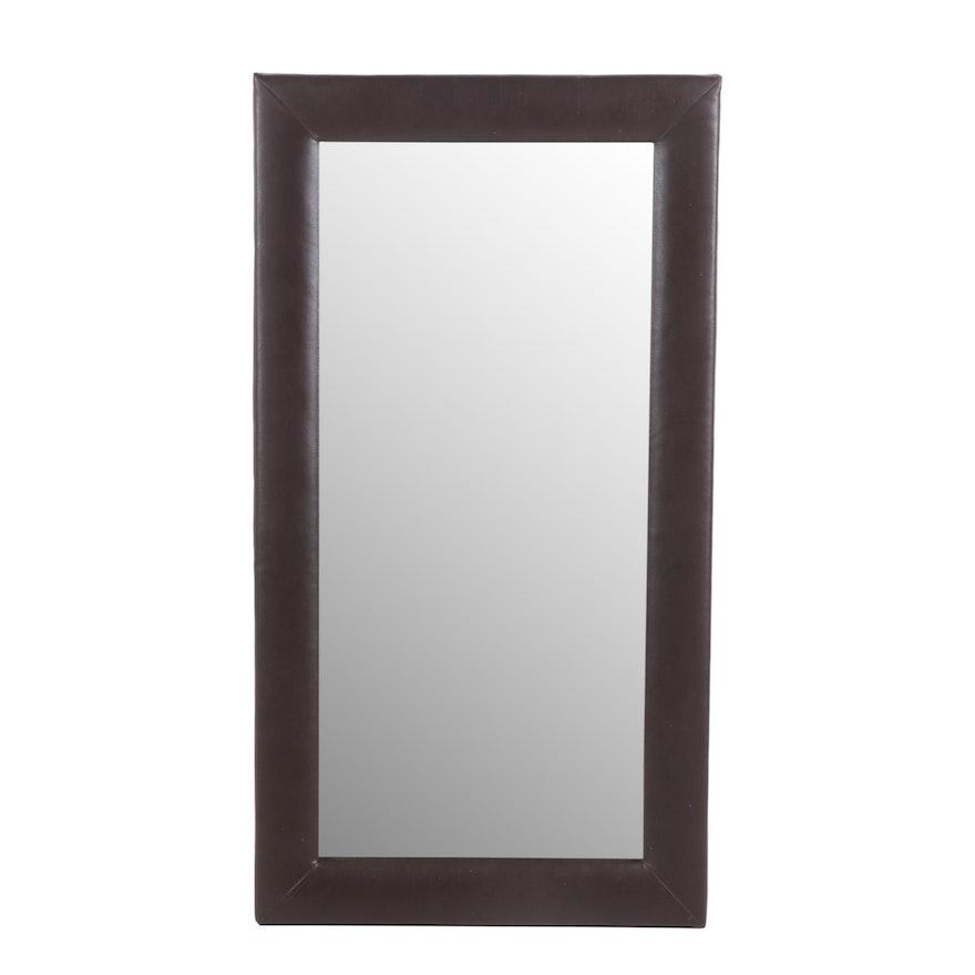Full Length Leather Framed Mirror