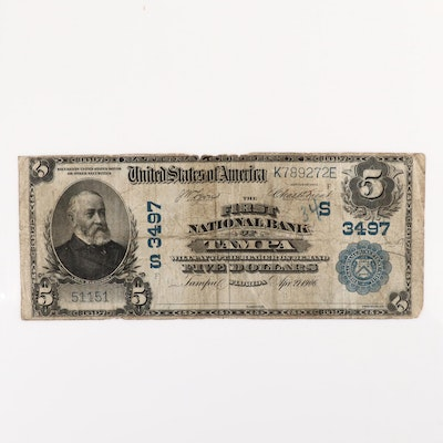 Series of 1902 U.S. $5 National Currency Note