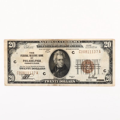 Series of 1929 U.S. $20 National Currency Note