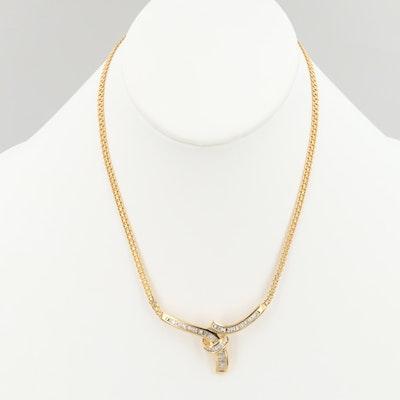 18K Yellow Gold 2.25 CTW Diamond Necklace