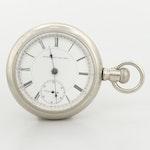 Vintage Elgin Nickel Sidewinder Pocket Watch