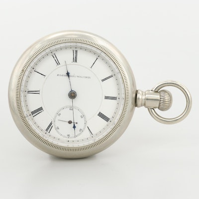 Vintage Elgin Nickel Sidewinder Pocket Watch