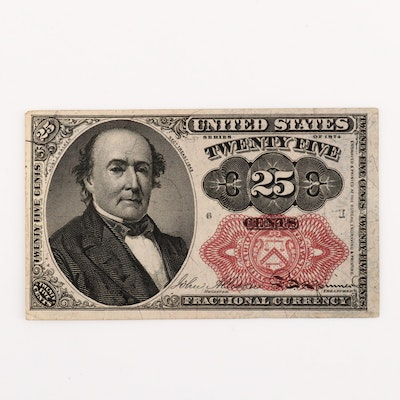 1874 U.S. 25-Cents Fractional Currency Note