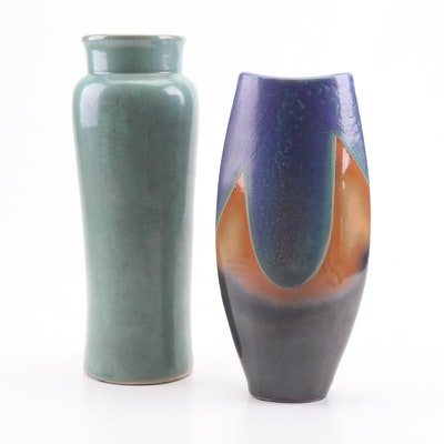 Contemporary Stoneware and Ceramic Home Decor Vases