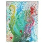 """Stefan Georg Acrylic Painting """"Fluid"""""""