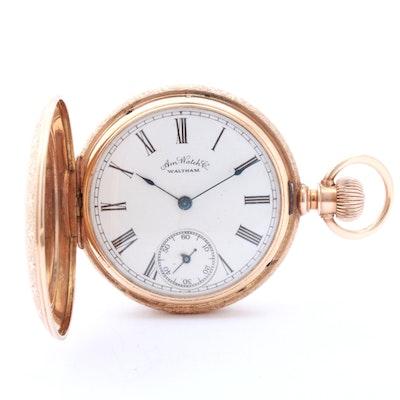 Waltham 14K Yellow Gold Pocket Watch, circa 1887