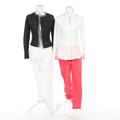 Women's Blouses and Pants Including Massimo Dutti with Liu Jo Denim Jacket
