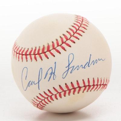 Carl H. Lindner Jr. Signed National League (Coleman) Baseball  COA