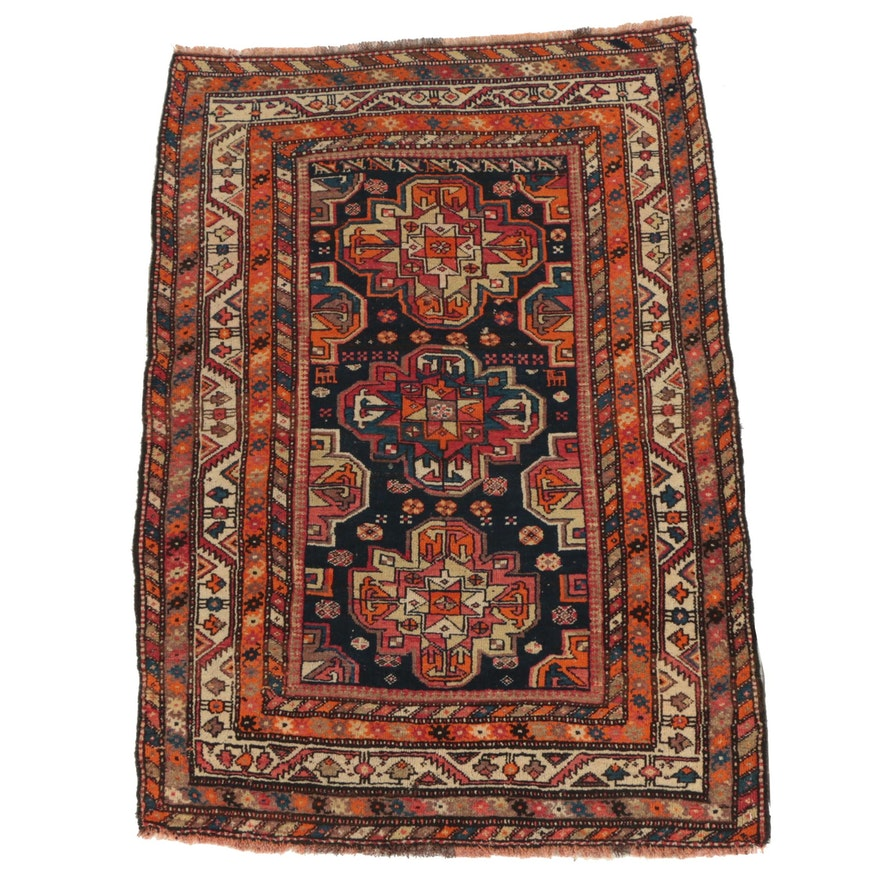 Hand-Knotted Caucasian Wool Area Rug