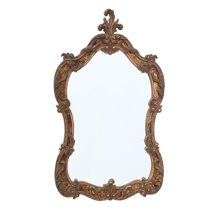 Rococo Style Molded Plastic Frame Wall Mirror by Turner