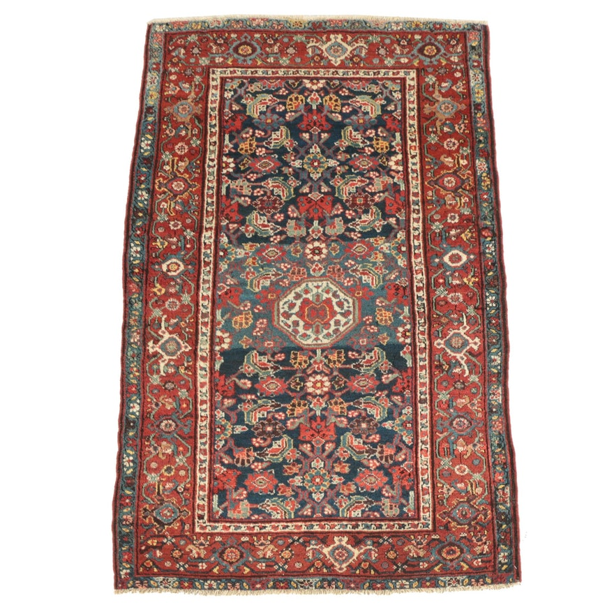 Hand-Knotted Persian Mahal Wool Area Rug