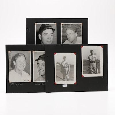 Cincinnati Reds Player Photographs Including Vander Meer, Circa 1930s-1940s