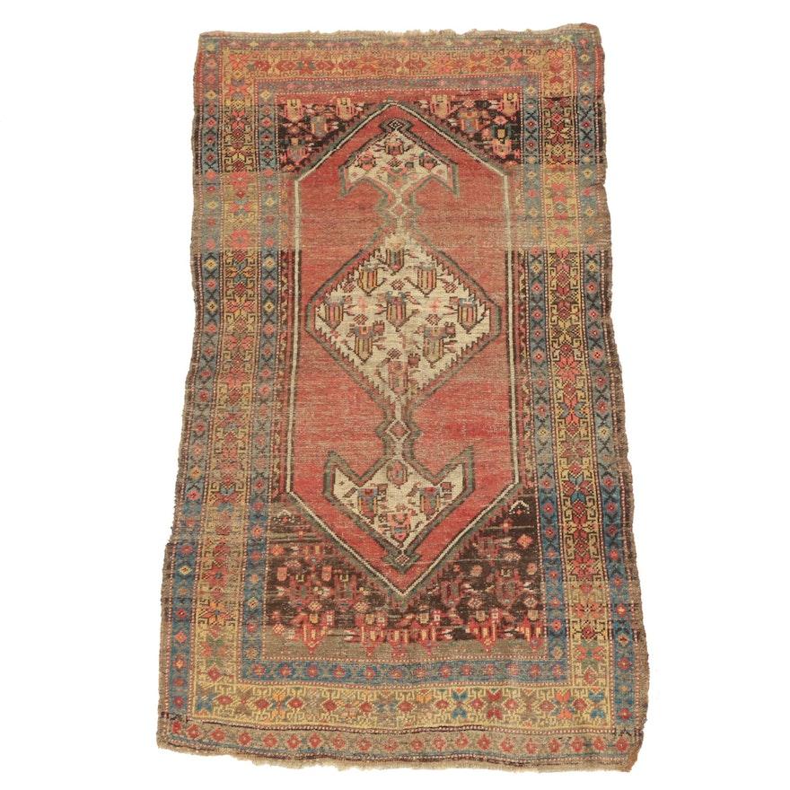 Hand-Knotted Persian Bijar Wool Area Rug